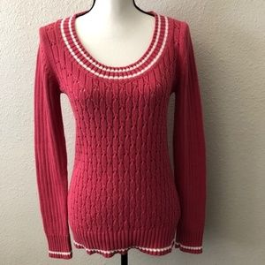 Old Navy Pink Knit Crew Neck Pullover Sweater - M